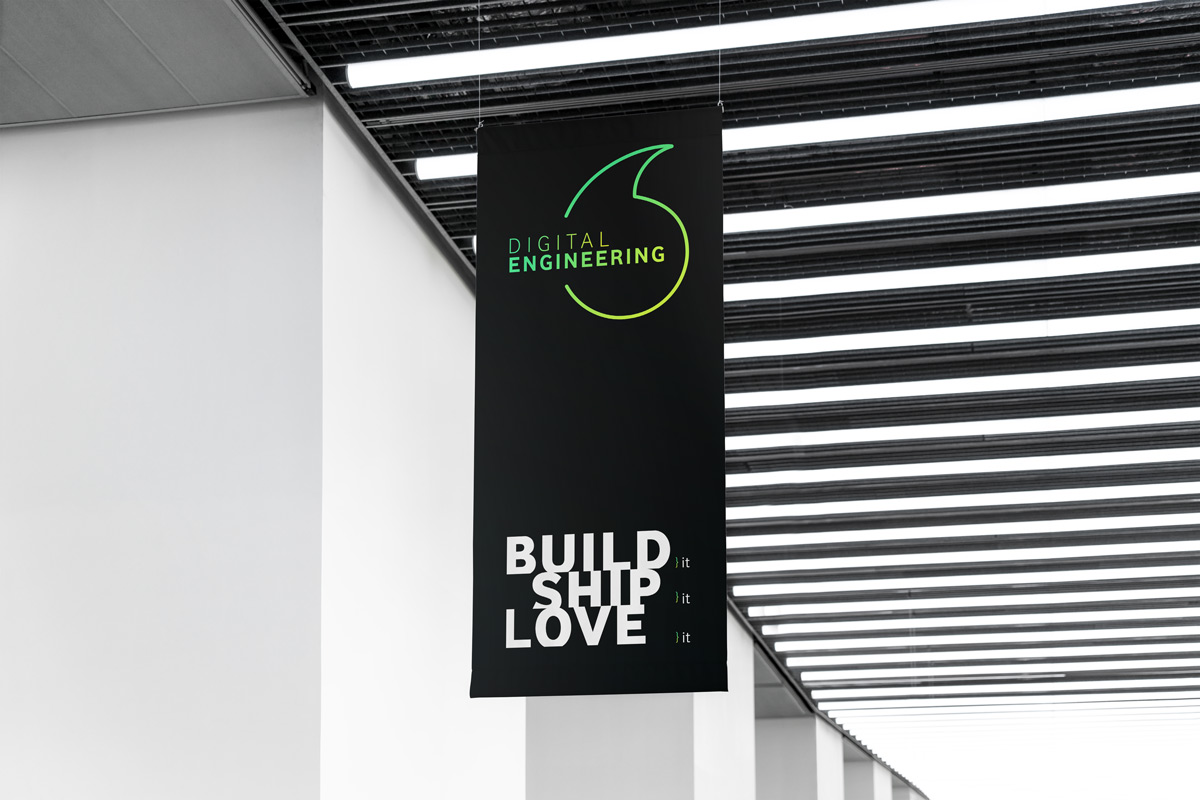 build ship love it - digital builders - vodafone uk - branding